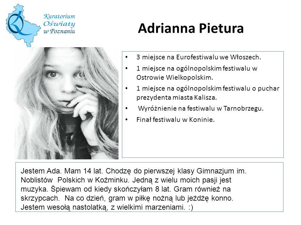 Adrianna Pietura W tę ramkę wstaw zdjęcie