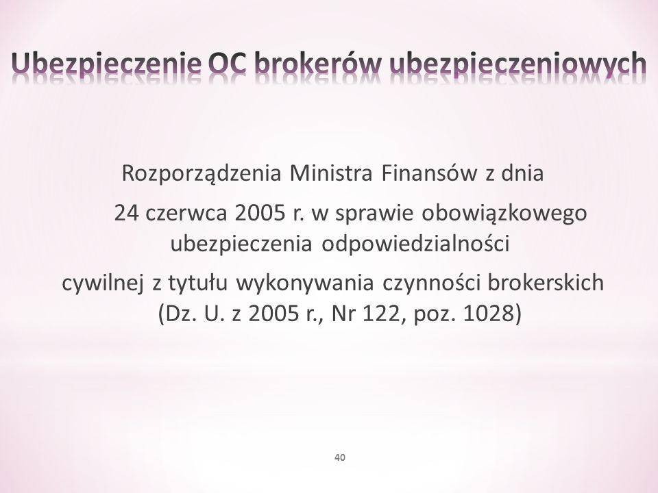 Ubezpieczenie OC brokerów ubezpieczeniowych
