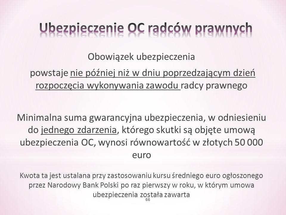 Ubezpieczenie OC radców prawnych