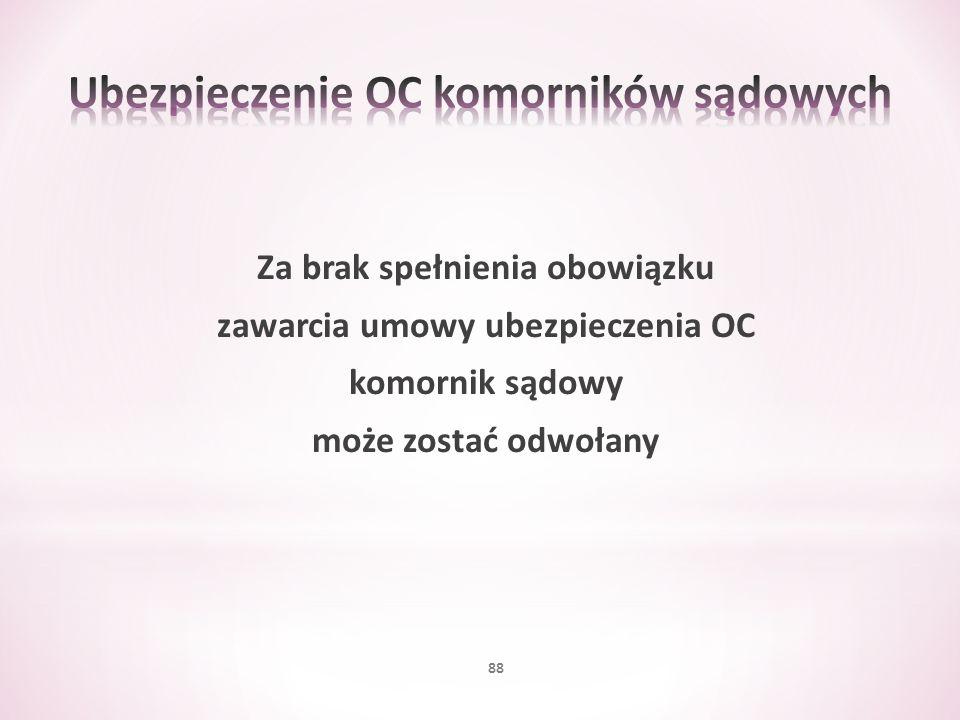 Ubezpieczenie OC komorników sądowych