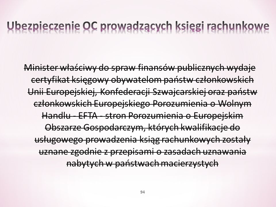 Ubezpieczenie OC prowadzących księgi rachunkowe