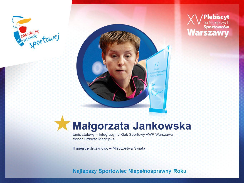 Małgorzata Jankowska Najlepszy Sportowiec Niepełnosprawny Roku