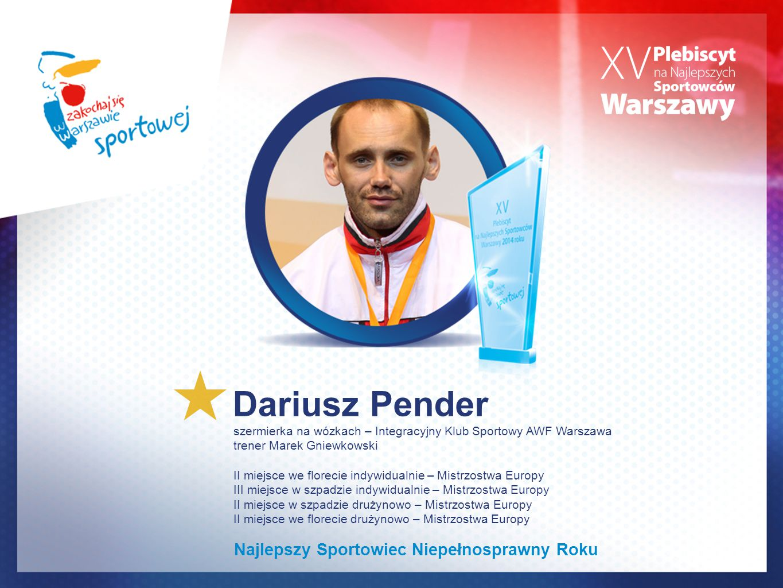 Dariusz Pender Najlepszy Sportowiec Niepełnosprawny Roku