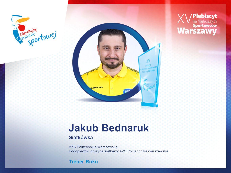 Jakub Bednaruk Siatkówka Trener Roku AZS Politechnika Warszawska