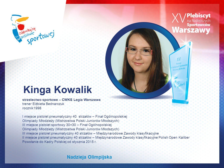 Kinga Kowalik Nadzieja Olimpijska