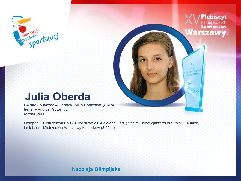 Julia Oberda Nadzieja Olimpijska