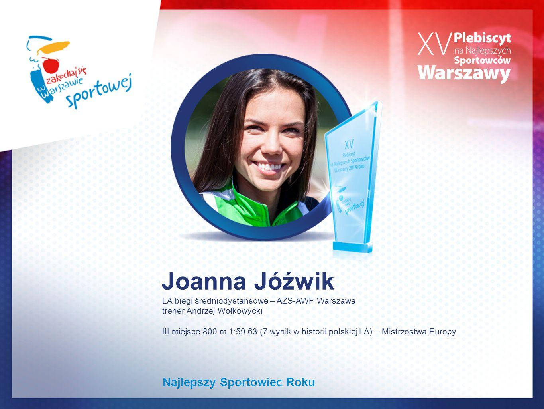Joanna Jóźwik Najlepszy Sportowiec Roku