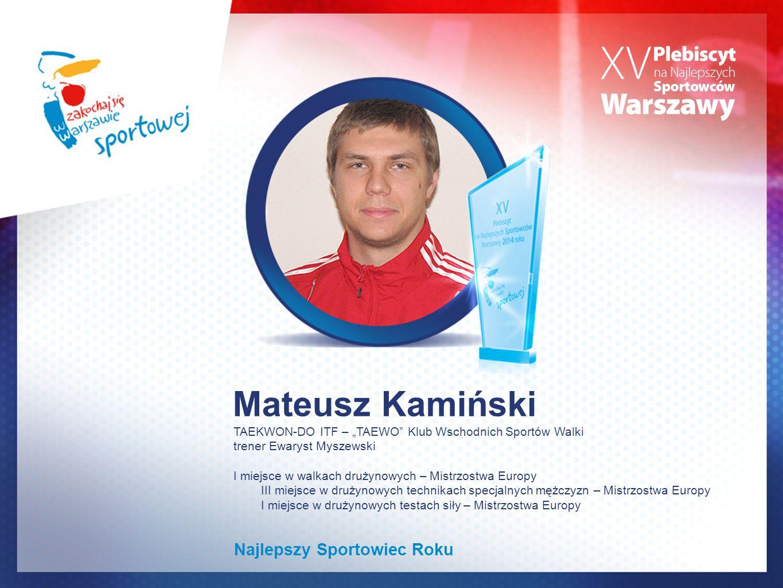 Mateusz Kamiński Najlepszy Sportowiec Roku