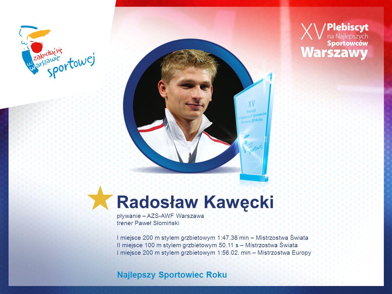Radosław Kawęcki Najlepszy Sportowiec Roku pływanie – AZS-AWF Warszawa