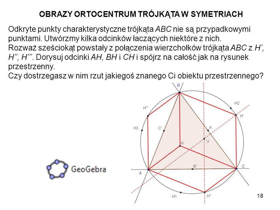 OBRAZY ORTOCENTRUM TRÓJKĄTA W SYMETRIACH