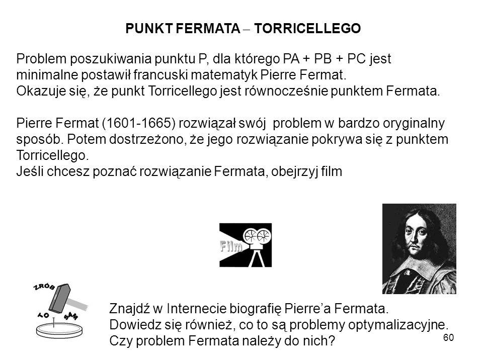PUNKT FERMATA  TORRICELLEGO