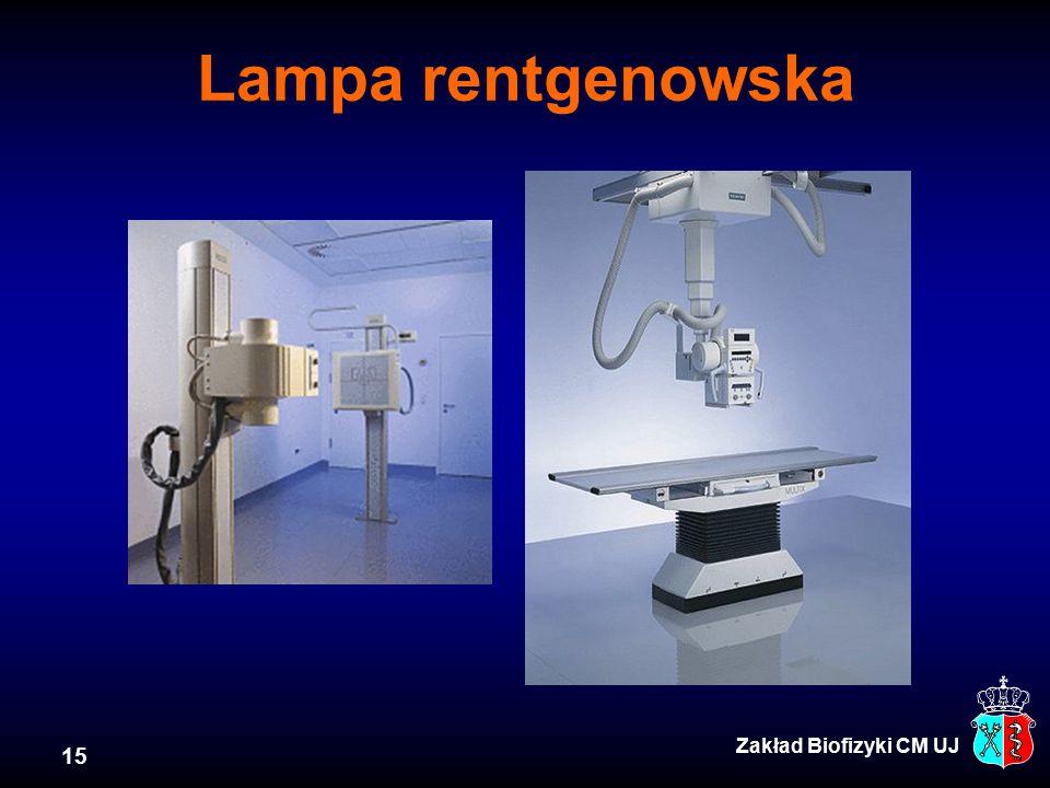 Lampa rentgenowska Zakład Biofizyki CM UJ