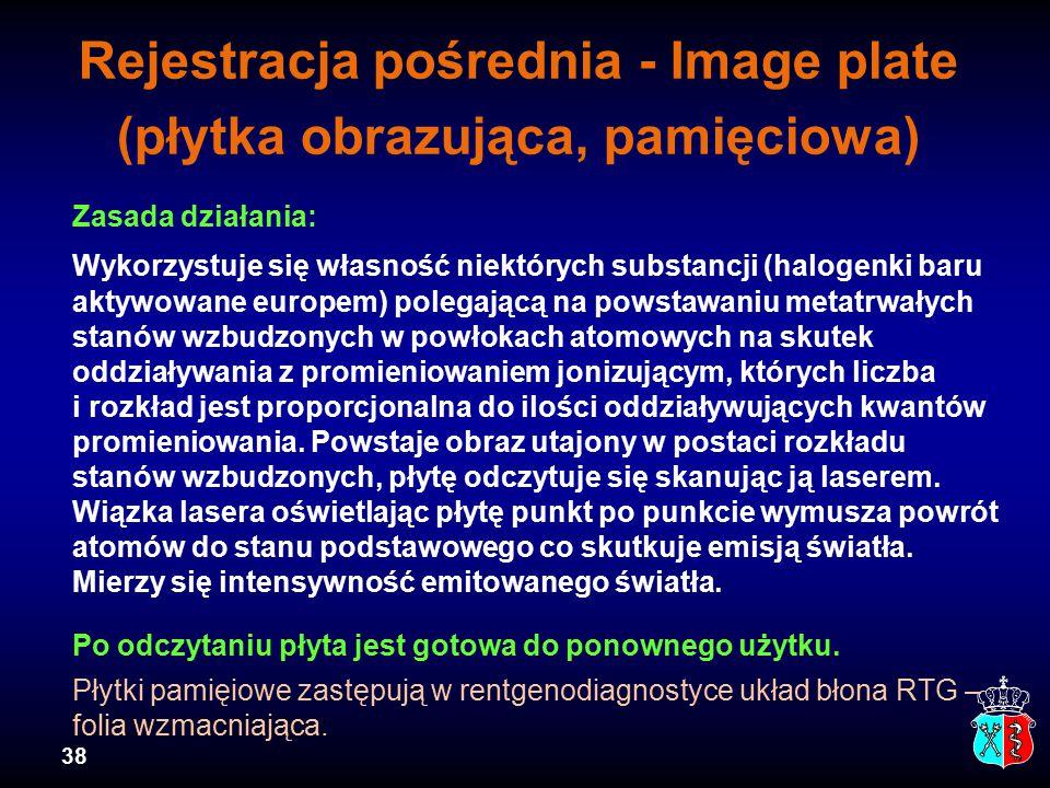 Rejestracja pośrednia - Image plate (płytka obrazująca, pamięciowa)