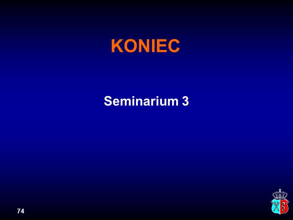 KONIEC Seminarium 3