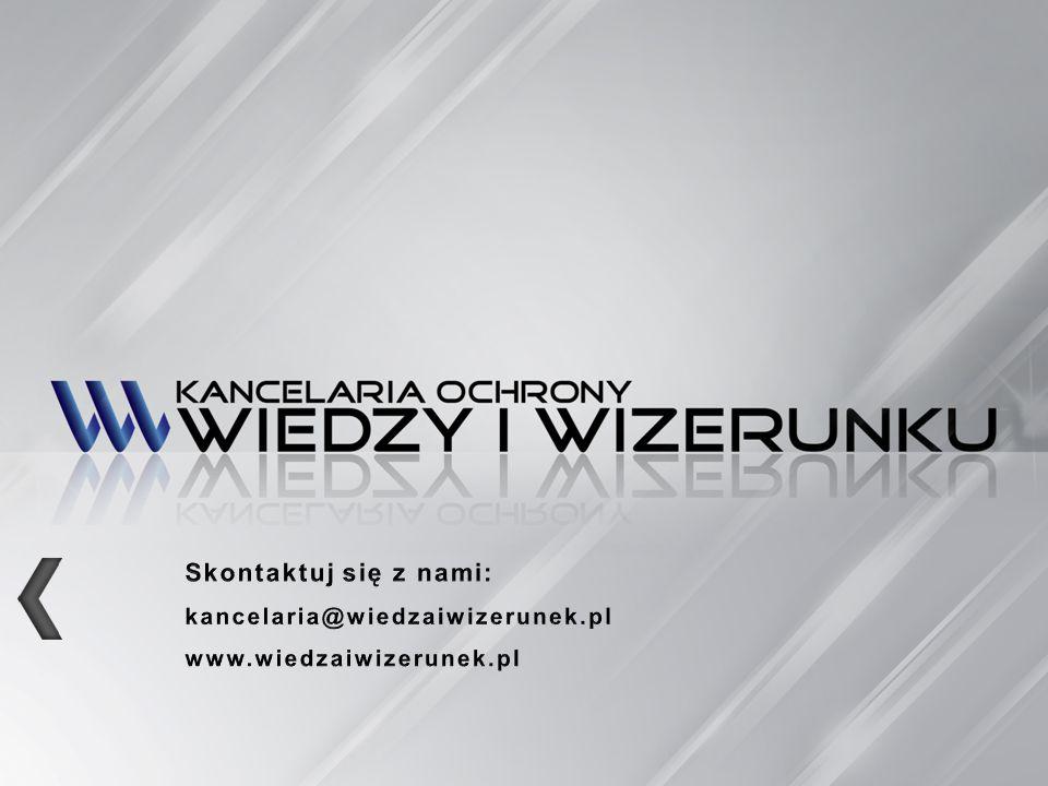 Skontaktuj się z nami: kancelaria@wiedzaiwizerunek.pl