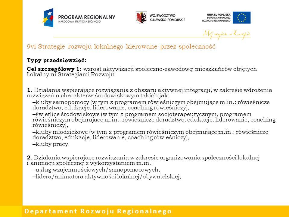 9vi Strategie rozwoju lokalnego kierowane przez społeczność