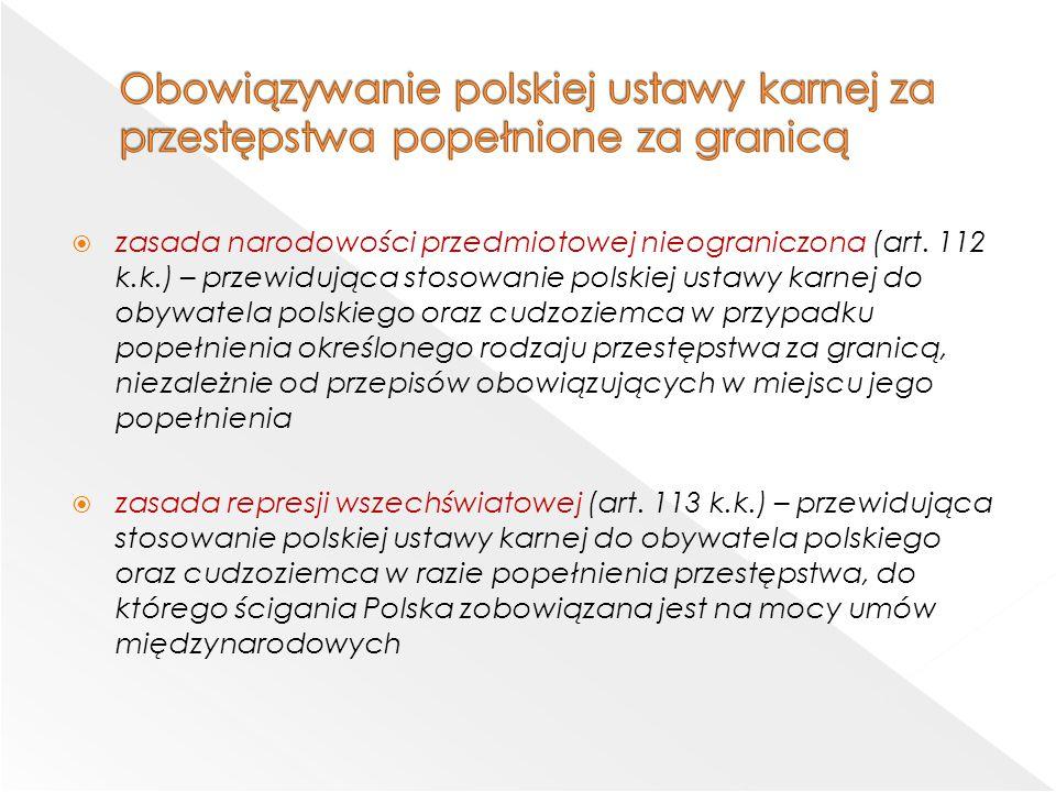 Obowiązywanie polskiej ustawy karnej za przestępstwa popełnione za granicą