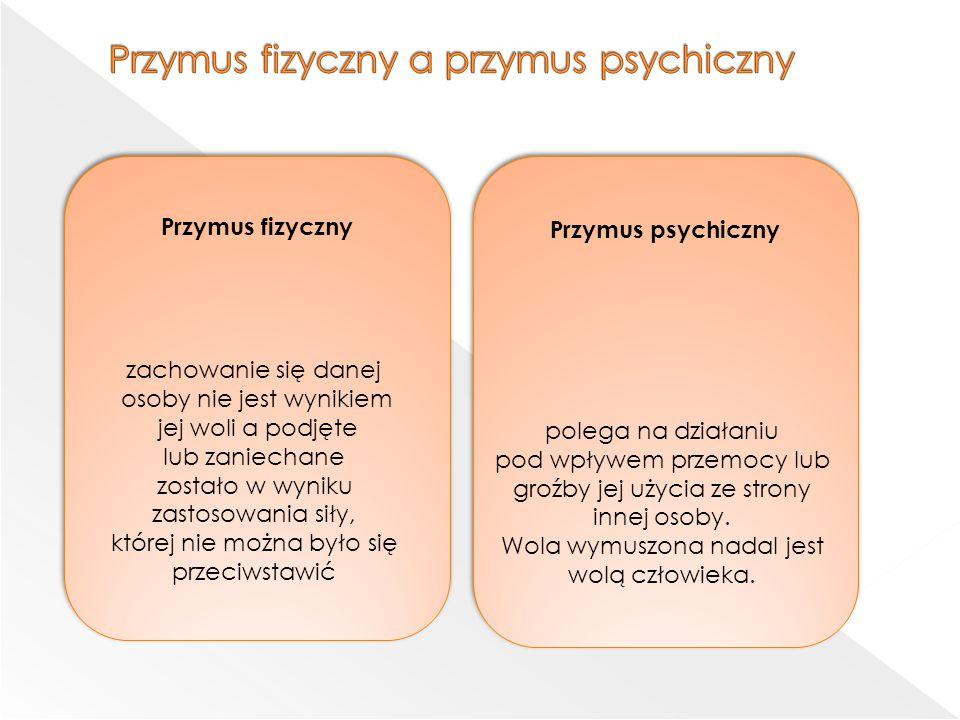 Przymus fizyczny a przymus psychiczny