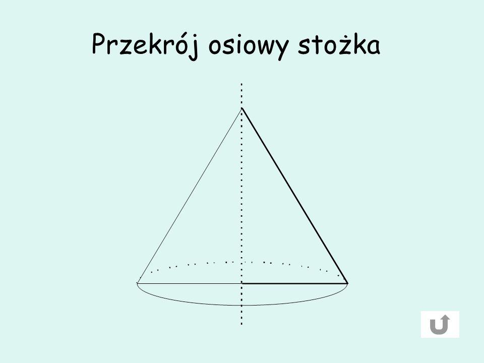Przekrój osiowy stożka