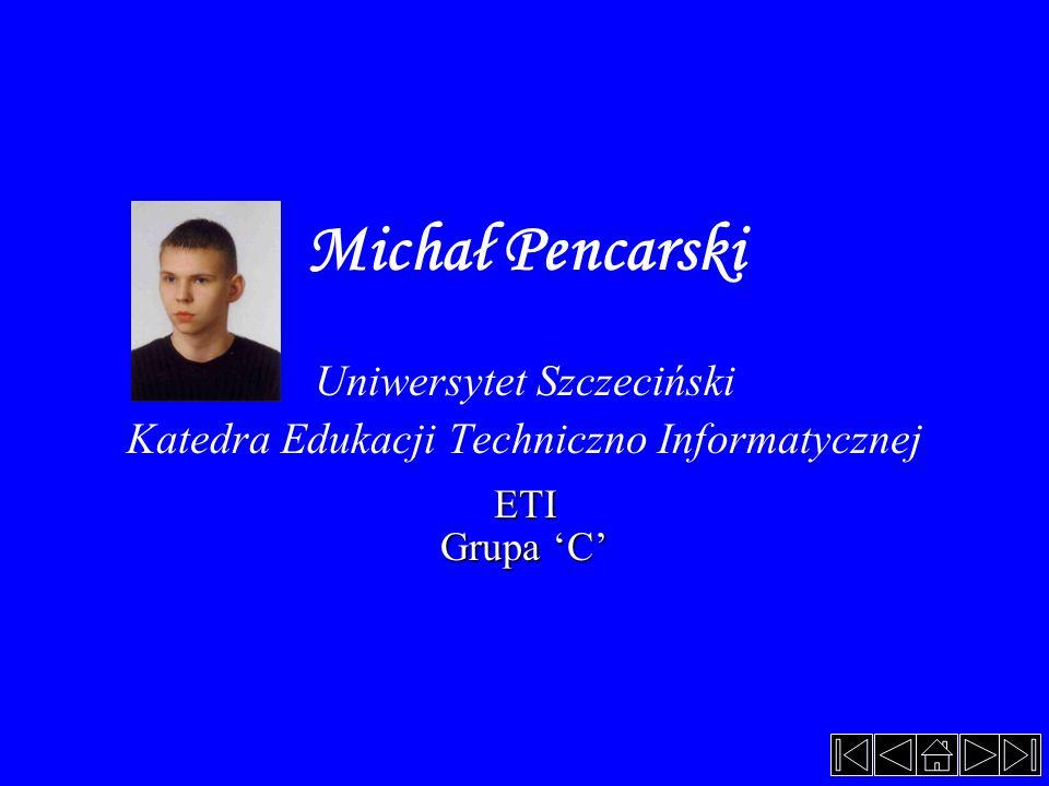 Michał Pencarski Uniwersytet Szczeciński