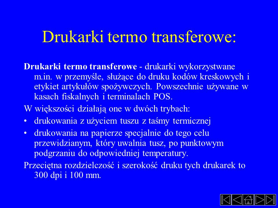 Drukarki termo transferowe: