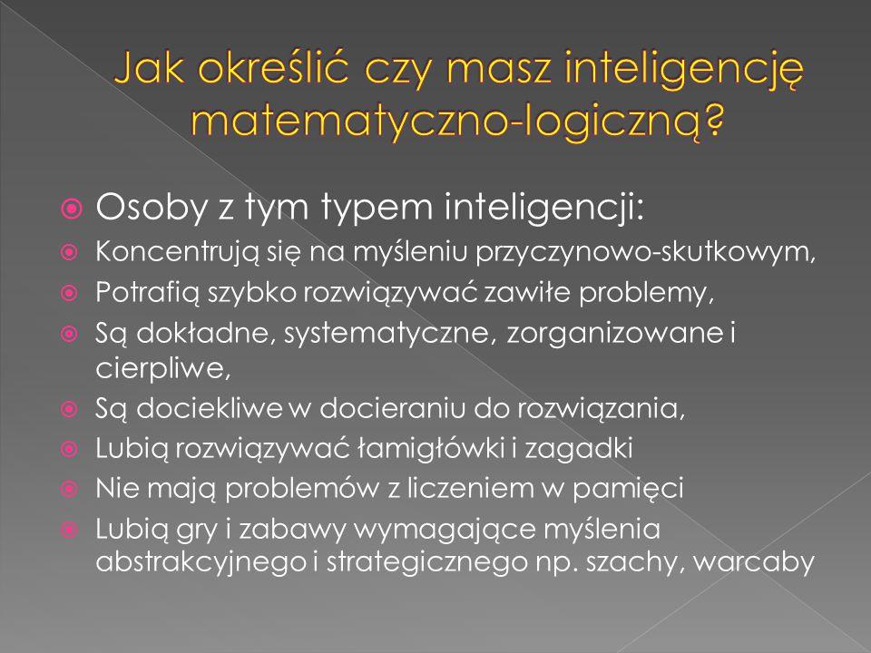 Jak określić czy masz inteligencję matematyczno-logiczną