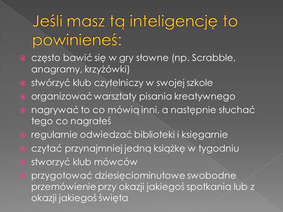 Jeśli masz tą inteligencję to powinieneś: