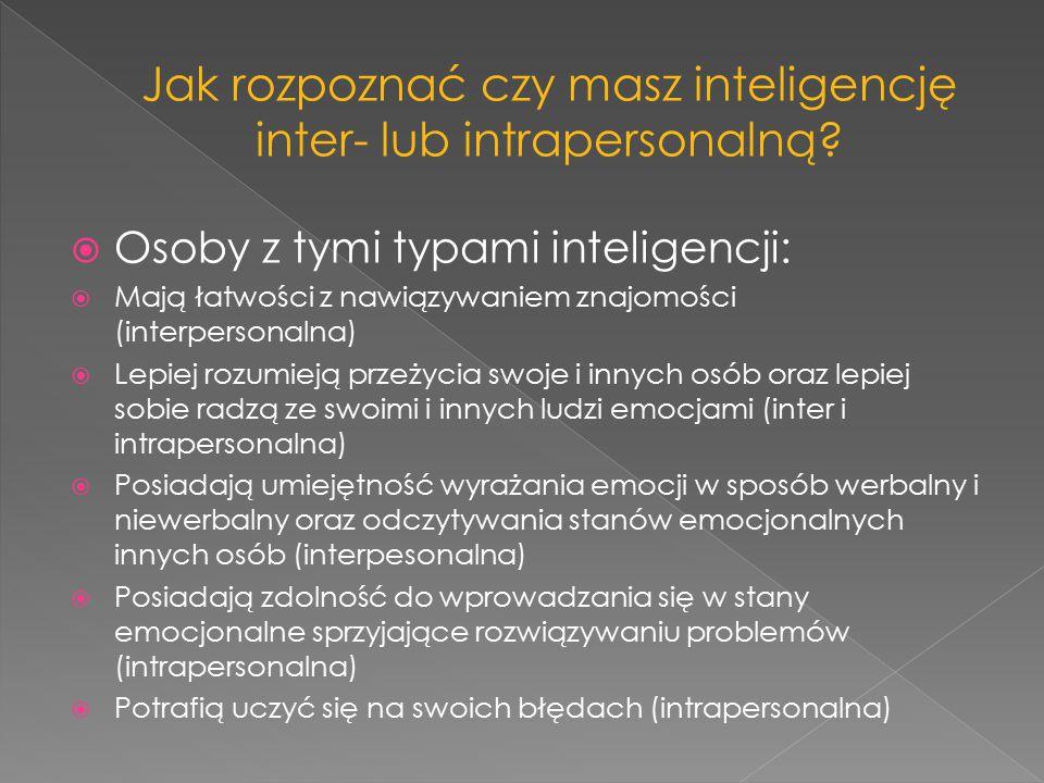 Jak rozpoznać czy masz inteligencję inter- lub intrapersonalną