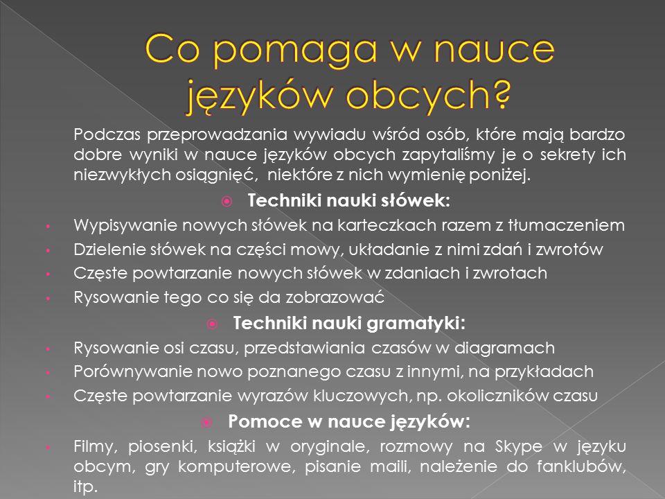 Co pomaga w nauce języków obcych