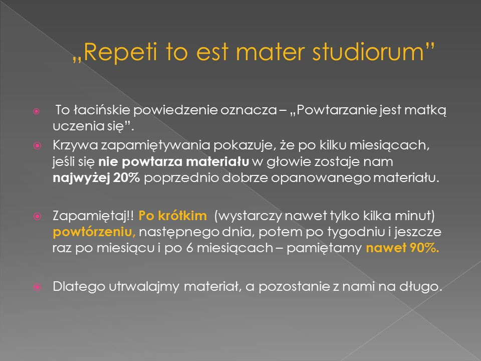 """""""Repeti to est mater studiorum"""