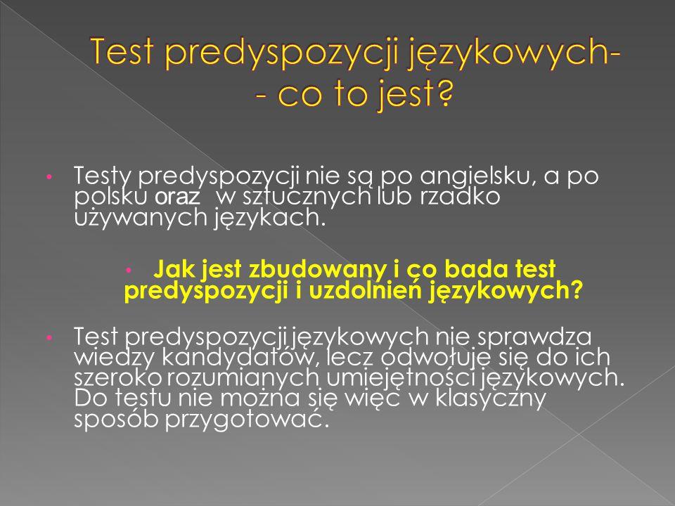 Test predyspozycji językowych- - co to jest