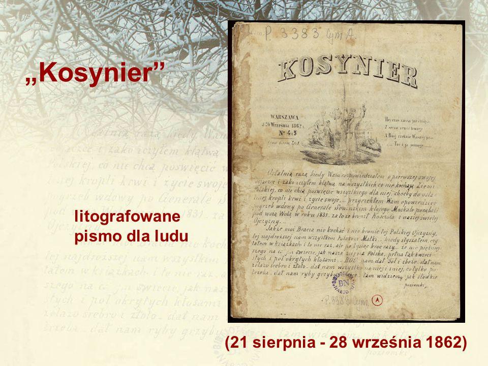 """""""Kosynier litografowane pismo dla ludu"""