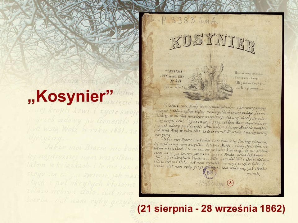 """""""Kosynier (21 sierpnia - 28 września 1862)"""