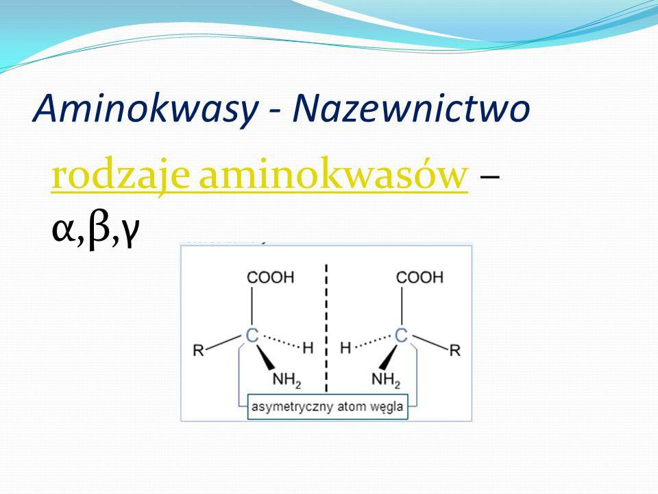 Aminokwasy - Nazewnictwo