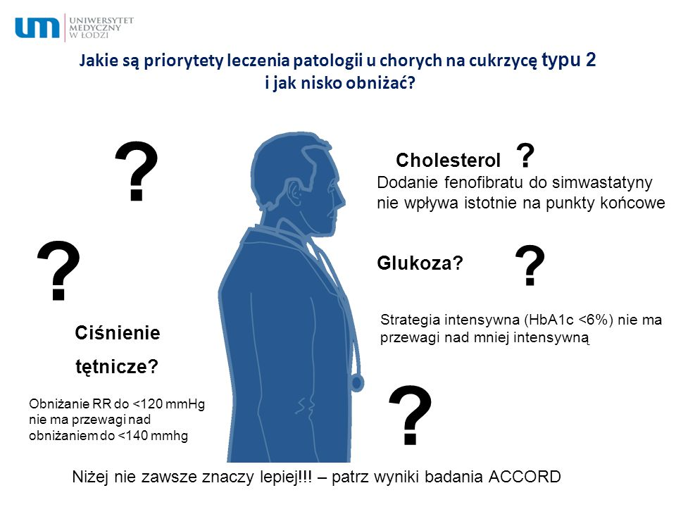 Jakie są priorytety leczenia patologii u chorych na cukrzycę typu 2 i jak nisko obniżać