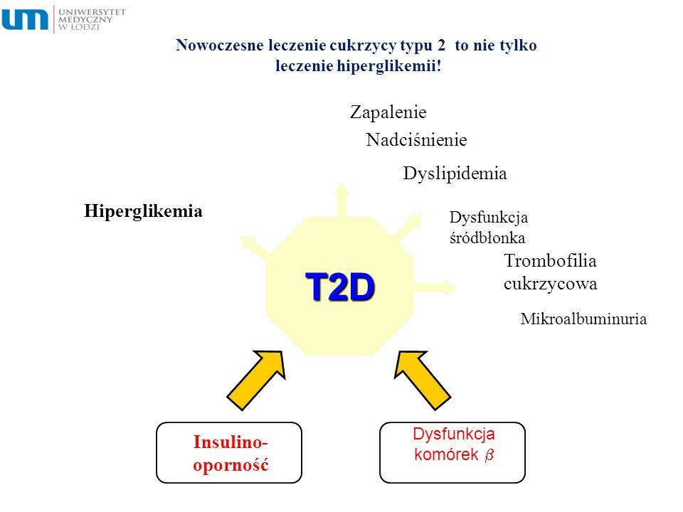T2D Zapalenie Nadciśnienie Dyslipidemia Hiperglikemia Trombofilia