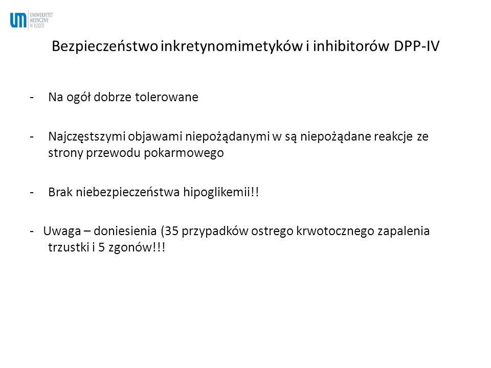 Bezpieczeństwo inkretynomimetyków i inhibitorów DPP-IV