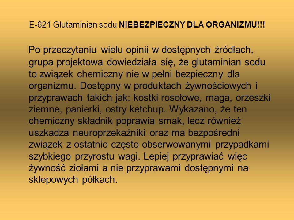 E-621 Glutaminian sodu NIEBEZPIECZNY DLA ORGANIZMU!!!
