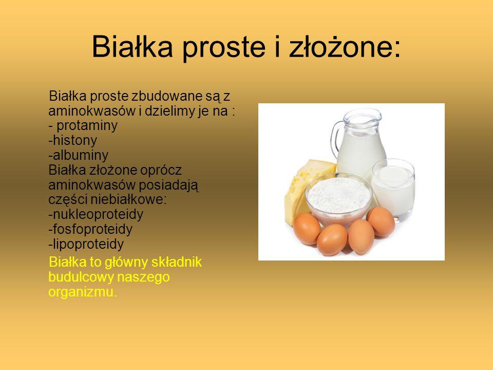 Białka proste i złożone: