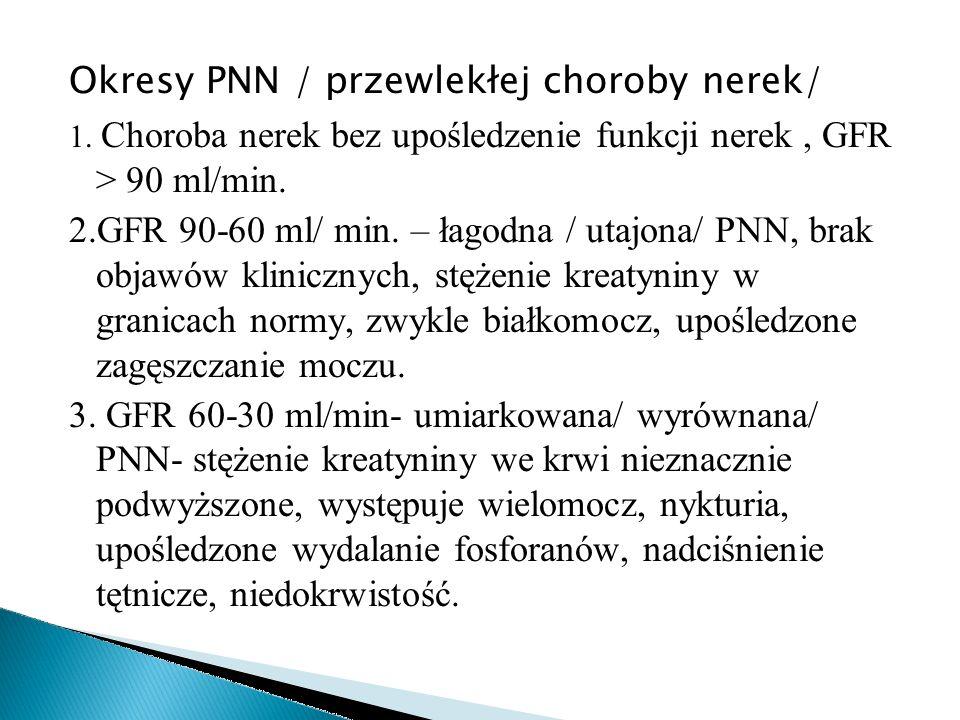 Okresy PNN / przewlekłej choroby nerek/