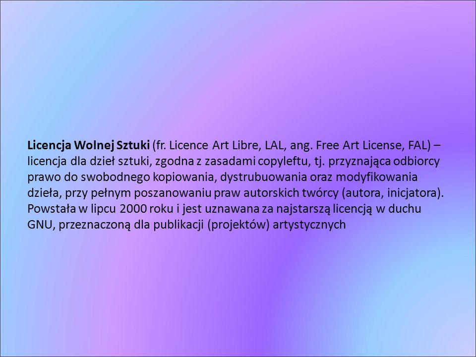 Licencja Wolnej Sztuki (fr. Licence Art Libre, LAL, ang