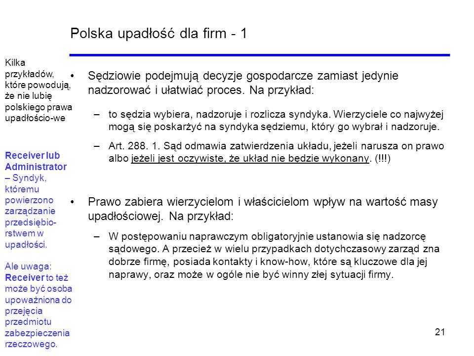 Polska upadłość dla firm - 1