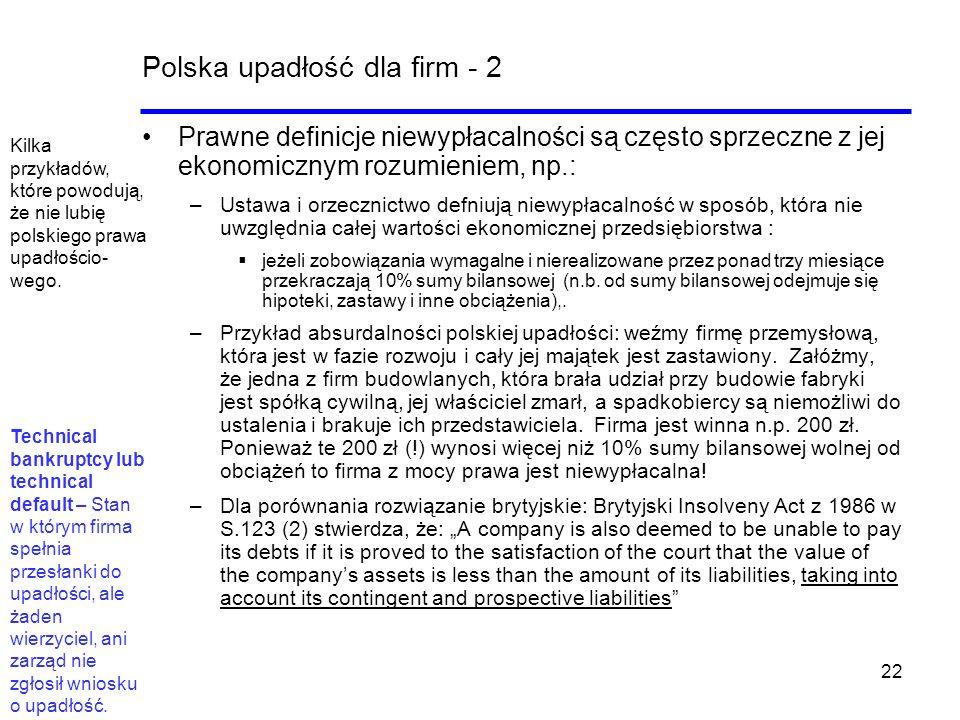 Polska upadłość dla firm - 2