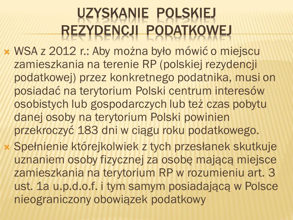 Uzyskanie polskiej rezydencji podatkowej