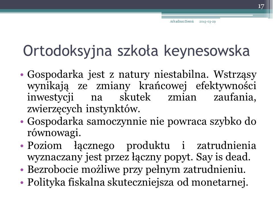 Ortodoksyjna szkoła keynesowska