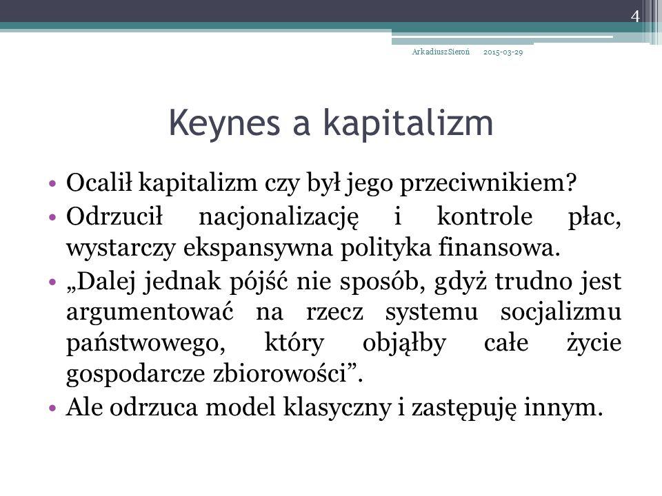 Keynes a kapitalizm Ocalił kapitalizm czy był jego przeciwnikiem
