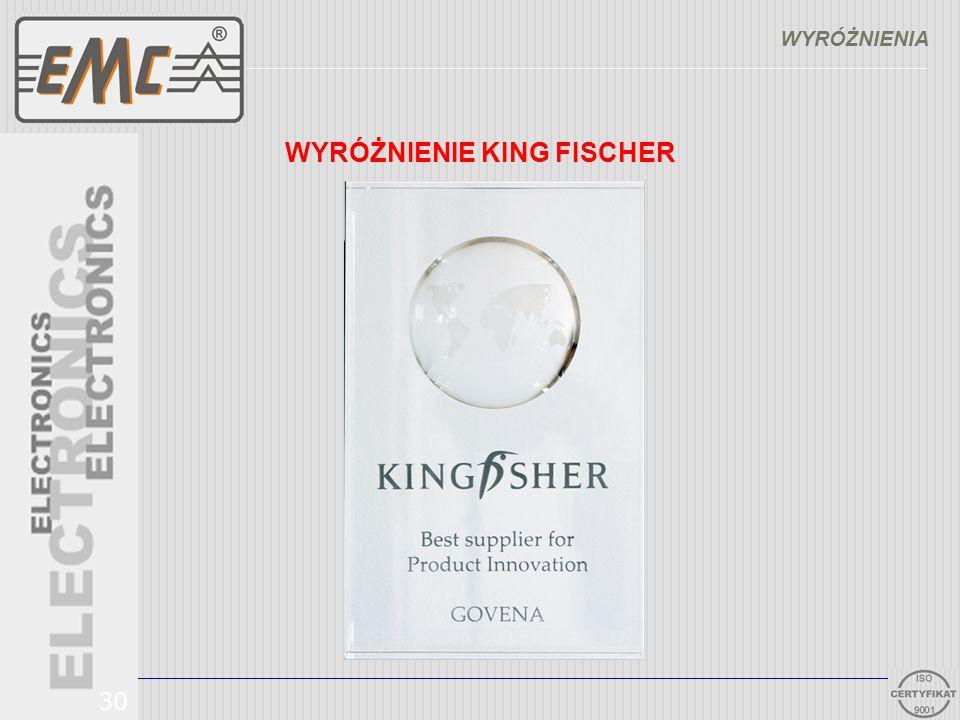 WYRÓŻNIENIE KING FISCHER