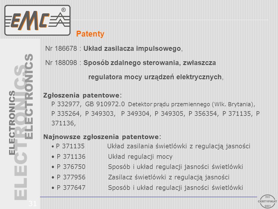 Patenty Nr 186678 : Układ zasilacza impulsowego,