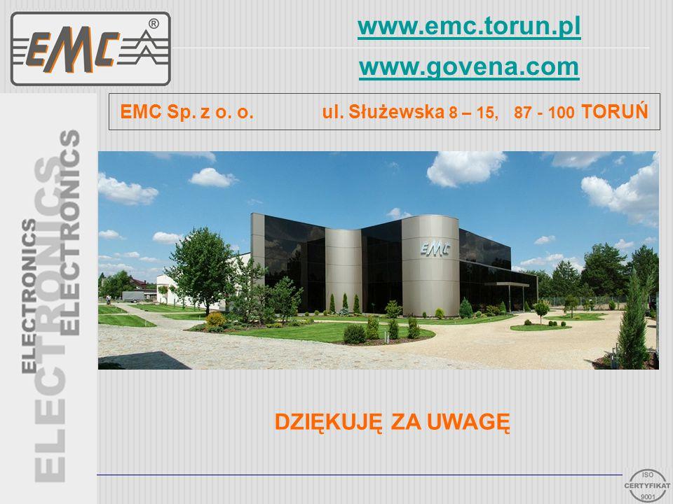EMC Sp. z o. o. ul. Służewska 8 – 15, 87 - 100 TORUŃ