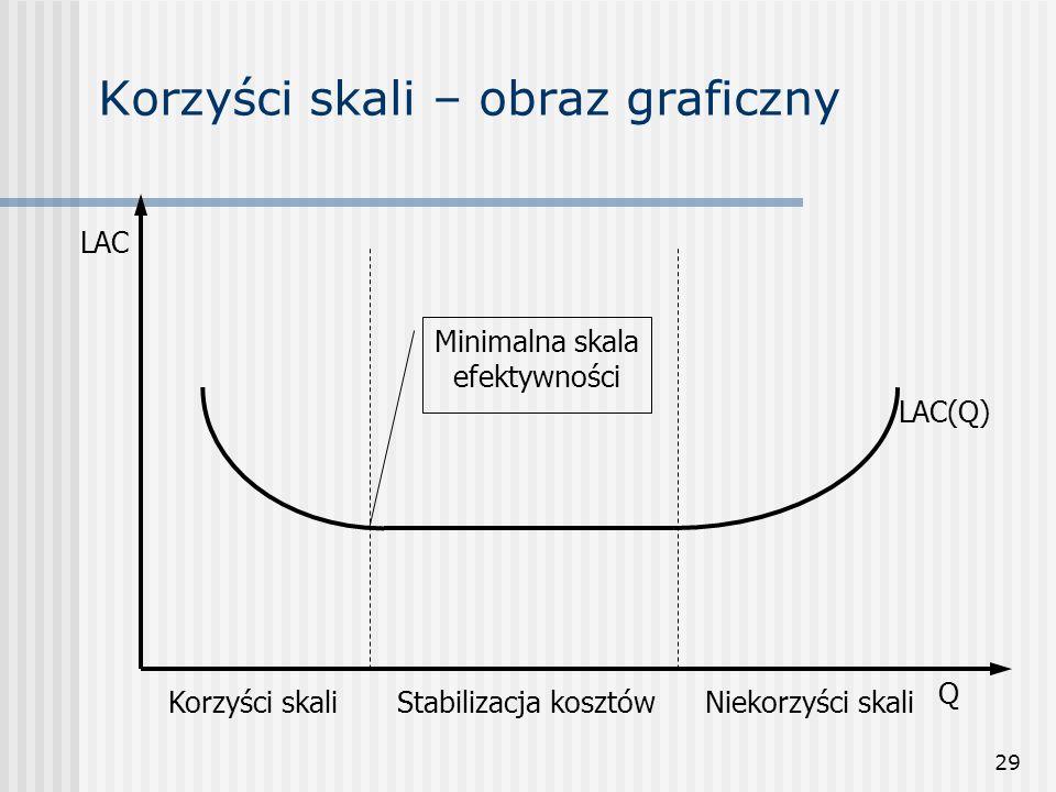 Korzyści skali – obraz graficzny